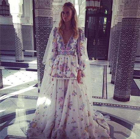 Poppy Delevigne Pucci Wedding Gown