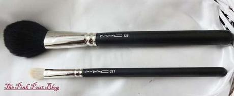 MAC 217 blending brush & 129 blush brush
