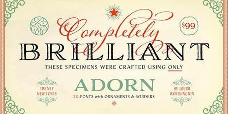 Post image for Adorn Font by Laura Worthington