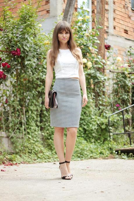 Pencil Skirt And Top Combo - Skirts