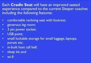 Cradle seat Caledonian sleeper serco scotrail train railway food drink Glasgow blog
