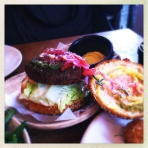 Quinoa burger Andina Peru Peruvian london shoreditch Redchurch food drink Glasgow blog east end