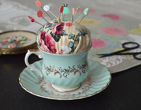 How to Make a Tea Cup Pincushion- MiaFleur