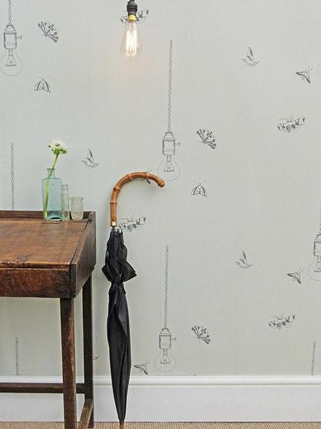 Earth Inke Wallpaper in Whisper Design via MiaFleur
