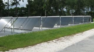 Solar thermal panels installed at Naval Submarine Base Kings Bay