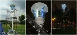 An innovative idea to provide outdoor lighting using wind-solar hybrid renewable energy sources