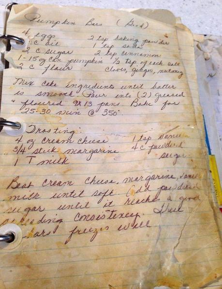 Pumpkin bars-recipe