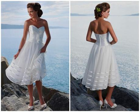 White going away dress