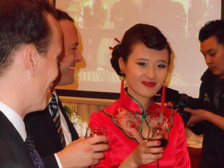 Bride at chinese wedding reception