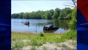Puppy drives car into Massachusetts pond