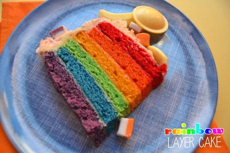 Tips on making a rainbow layer cake