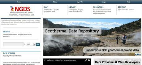 The National Geothermal Data System (NGDS) website