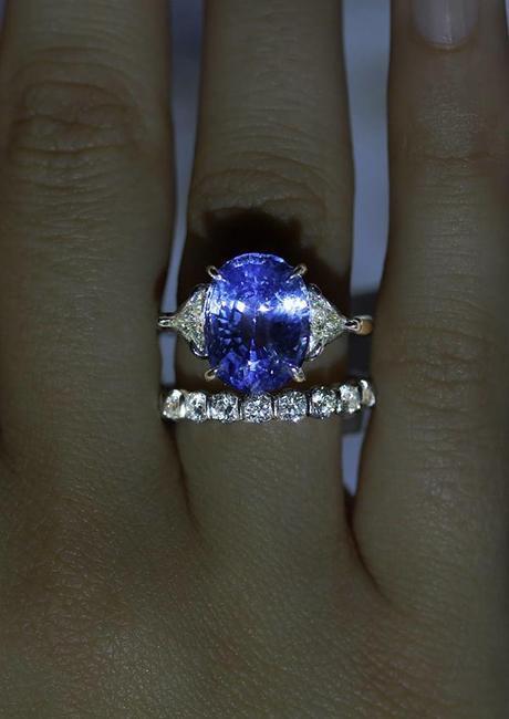 Ceylon Sapphire engagement Ring