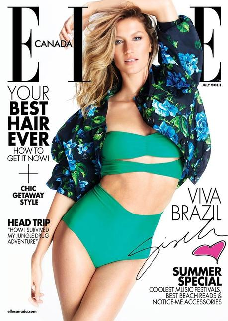 Gisele Bundchen for ELLE Magazine, Canada, July 2014