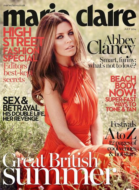 Abbey Clancy For Marie Claire Magazine, UK, July 2014