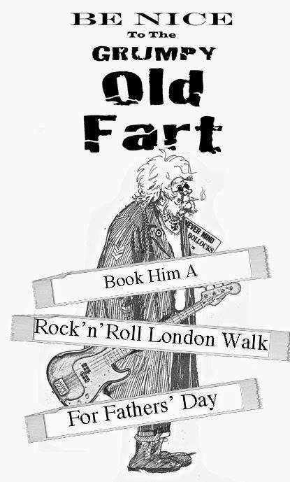 Friday is Rock'n'Roll London Day No.2  – And Sunday 15th June Is Fathers' Day