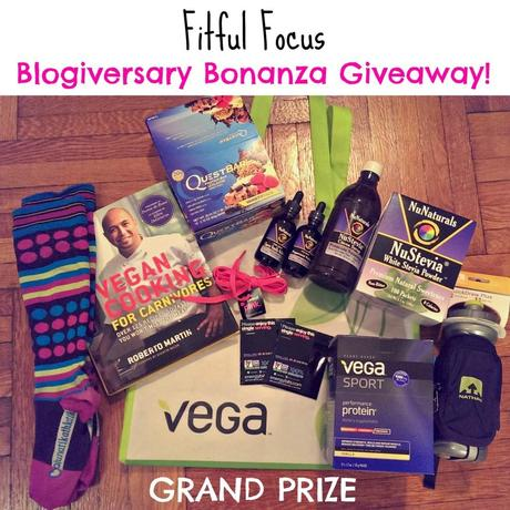 Grand Prize Blogiversary Bonanza Giveaway via Fitful Focus