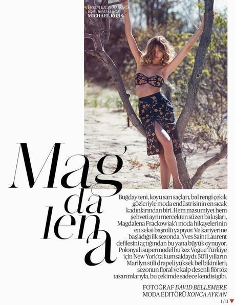 Magdalena Frackowiak for Vogue Turkey
