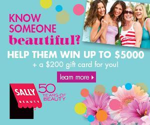 Image: win up to $5,000 cash from Sally Beauty - Worldwide