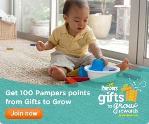 Image: Start earning reward points with every Pampers purchase. The more points you collect, the more fabulous toys and treats you can choose from our gift catalog