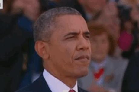 Obama chews gum