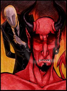 Slenderman-Satan