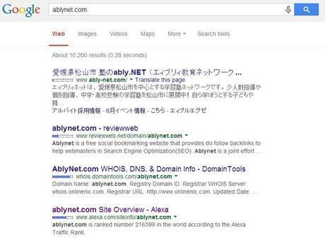 no result found in Google search