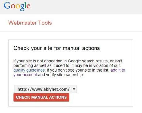 Check your site for manual actions