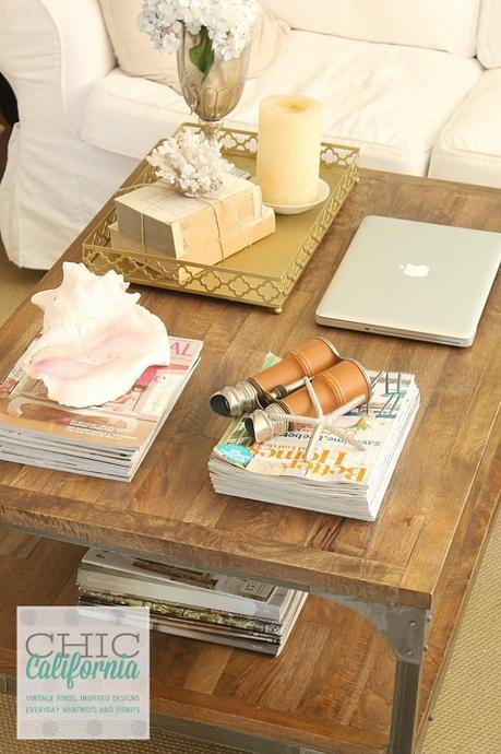 real life coffee table styling