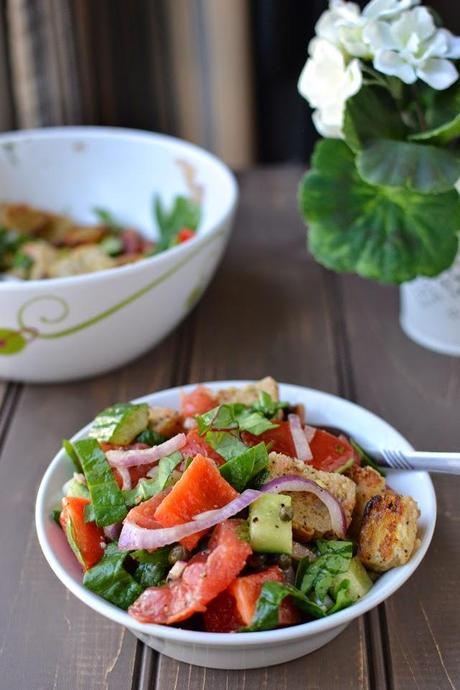 Greek Panzanella Bread Salad Paperblog