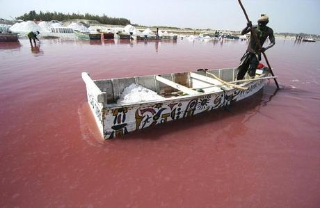 Photography of Lake Retba in Senegal
