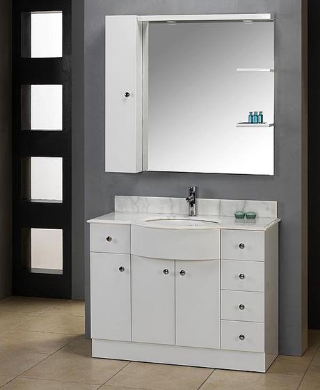 42.5 inch Wicklow European Style White Bathroom Vanity