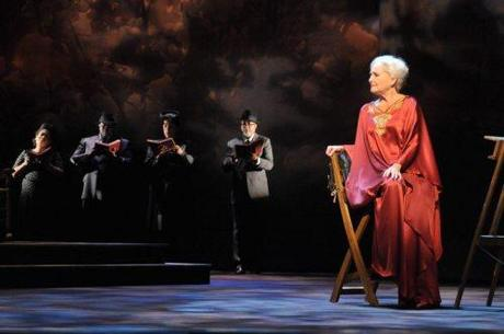 As Myrtle Bledsoe, Frederica von Stade portrays a woman who has lived ninety years.
