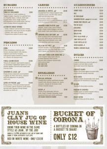 Juan chihuahua Texmex Mexican restaurant cantina food drink Glasgow blog menu