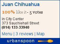 Juan Chihuahua, 375 Sauchiehall Street, Glasgow – Mexican Texmex
