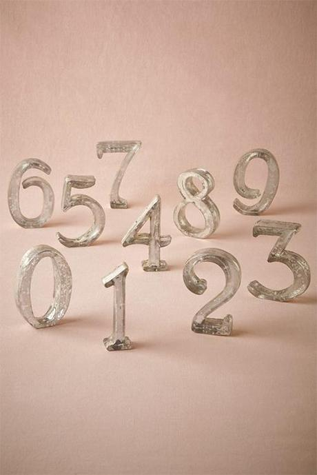 Mercury Glass table numbers