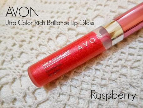 Avon Ultra Color Rich Brilliance Lip Gloss Raspberry : Review, Swatch, FOTD