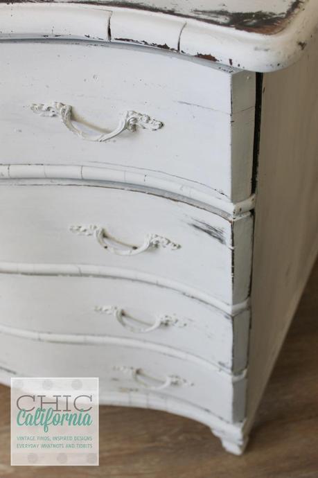 Milk Paint Dresser after