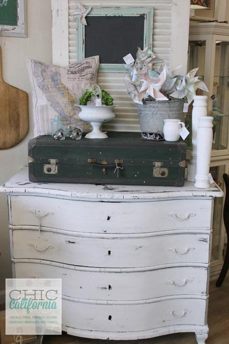 White Milk Paint Dresser