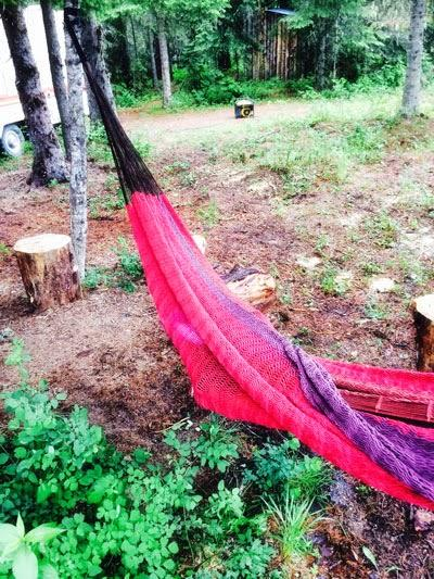 Father's Day Weekend Camping Trip - Best Hammocks and Decorated Beer Tables