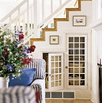 under stairs storage ideas - from bathrooms to bookshelves