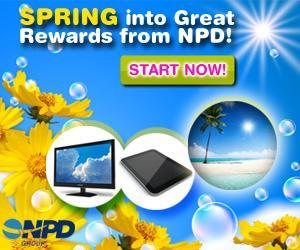 Image: Sign up for NPD Online Research and fill out surveys to receive cash and prizes