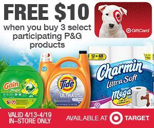 Image: Get Spring coupons and savings on your favorite P+G products at Target
