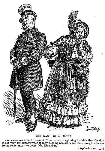 Punch cartoon, 1930: The character on the righ...