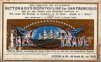 Free Trade clipper ship