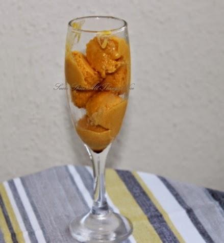Mango and Passion Fruit Ice Cream