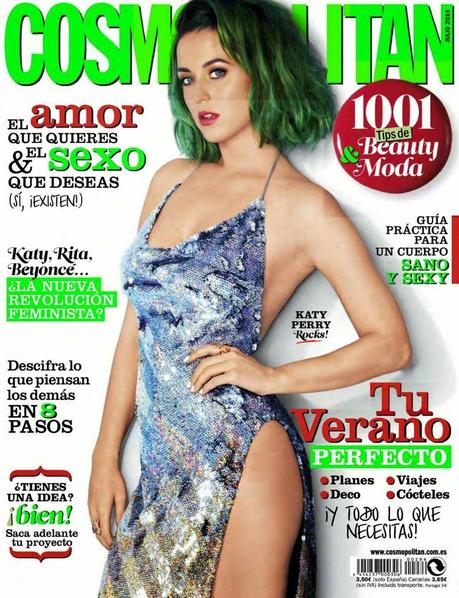 Katy Perry For Cosmopolitan Magazine, Spain, July 2014