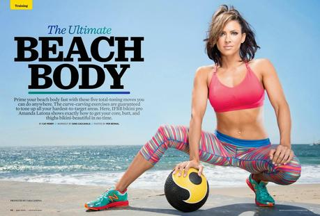 Amanda Latona For Muscle & Fitness Hers Magazine, July/August 2014