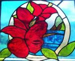 stained glass door panel 1930s