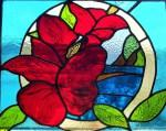 Aloha Teignmouth Stained Glass Hibiscus flower